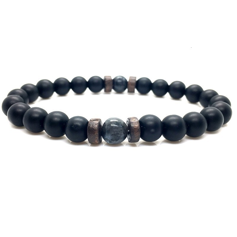 Men Bracelet Natural Moonstone Bead Tibetan Buddha Bracelet