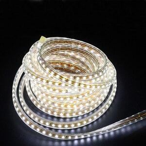Image 4 - 220V Wasserdicht Led streifen licht mit Eu stecker 2835 SMD flexible Seil Licht, 120 Leds/M hohe helligkeit outdoor indoor Dimmer decor
