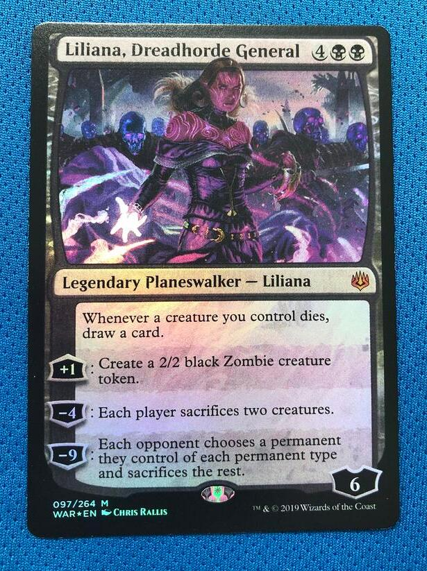 Liliana, Dreadhorde General WotS Foil Magician ProxyKing 8.0 VIP The Proxy Cards To Gathering Every Single Mg Card.