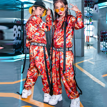 Girls Hip-Hop Drum Performance Handsome Boys Chinese Style Jazz Dance Costume Catwalk New Year'S Day Performance Clothes DL5017