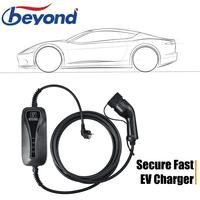 3.6KW 16A Type 2 EV Charger Portable Cable Level 2 Charging Box EU Schuko Plug Electric Vehicle Charging Station Car EVSE