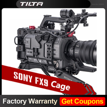 Instock TILTA Camera Cage for SONY PXW FX9 DSLR Camera full cage PXW FX9 Rig with base plate power ES T18 V