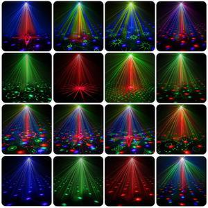 Image 5 - Dj 레이저 rgb 무대 조명 프로젝터 led 효과 램프 디스코 크리스마스 휴일 바 조명 파티 실내 램프 원격