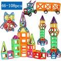 Магнитные дизайнерские строительные игрушки, 46-108 шт., большой размер, магнитные блоки, магнитные строительные блоки, игрушки для детей