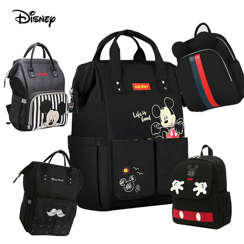 Diaper Bag Baby Disney USB Heating Maternity Nappy Backpack Large Capacity Nursing Travel Baby Care Heat Preservation Dropship