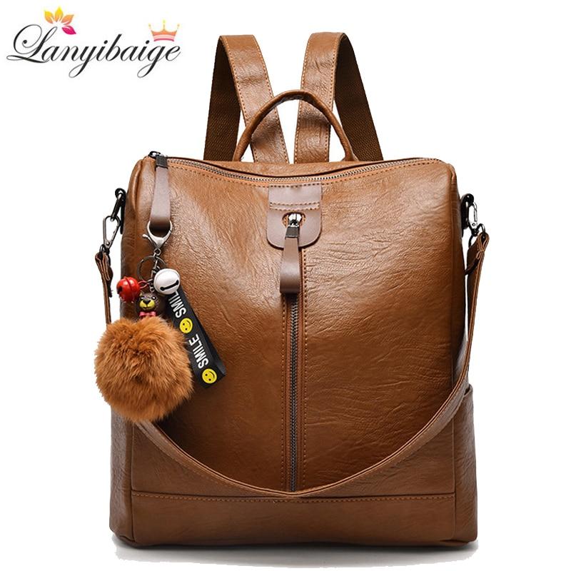 Fashion Backpack Women High Quality pu Leather Shoulder Bag School Bags for Teenage Girls Travel Backpack mochila feminina
