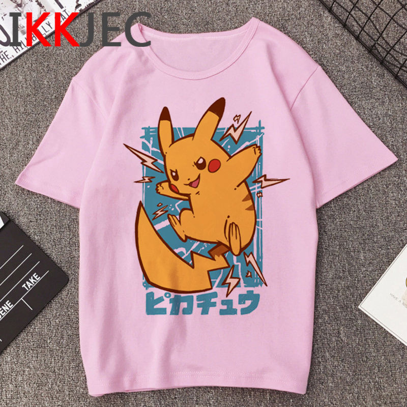 Pikachu Funny Cartoon T Shirt Men Pokemon Go Harajuku T-shirt Casual Fashion Anime Tshirt 90s Hip Hop Streetwear Top Tees Male