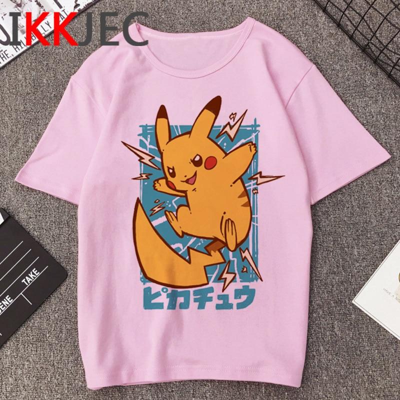 Pikachu Funny Cartoon T Shirt Men Pokemon Go Harajuku T-shirt Casual Fashion Anime Tshirt 90s Hip Hop Streetwear Top Tees Male