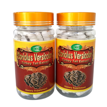 Coriolus Versicolor (Turkey Tail) Extract 30% Polysaccharide Caps (6Bottle=540pcs)  free shipping