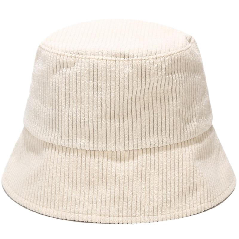 Sombrero de terciopelo acanalado para hombre y mujer, gorra de pescador de Panamá empaquetable con visera ancha de Color sólido Simple