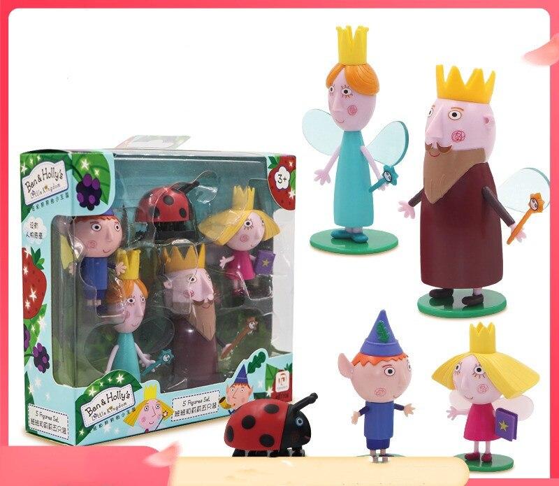 5 шт./компл. Бен и Холли ПВХ экшн-Фигурки игрушки для детей подарок на день рождения