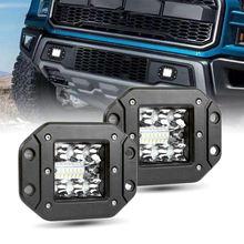 Lampe LED antibrouillard à montage encastré, 2 pièces, éclairage de travail, 39W, pour véhicule tout-terrain, lampe de conduite, pour Jeep 4x4 4WD SUV ATV, 4 pouces