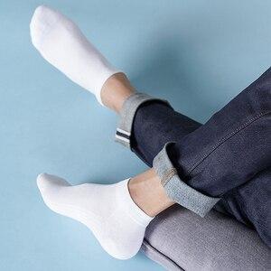Image 3 - 5 Pairs Youpin 365 Slijtage Lente En Zomer Ademend Antibacteriële Mannelijke Sokken Zachte Comfrotable Zilver Ion Antibacteriële Nieuwe