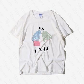 Fashion Girlfriends T Shirt Women Harajuku Vintage Punk Aesthetic Cotton Plus Size Skipoem Short Sleeve Clothes Tee Femme