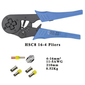Image 5 - Tubular terminal crimping tools mini electrical pliers HSC8 10S 0.25 10mm2 23 7AWG 6 4A/6 6A 0.25 6mm2 high precision clamp sets