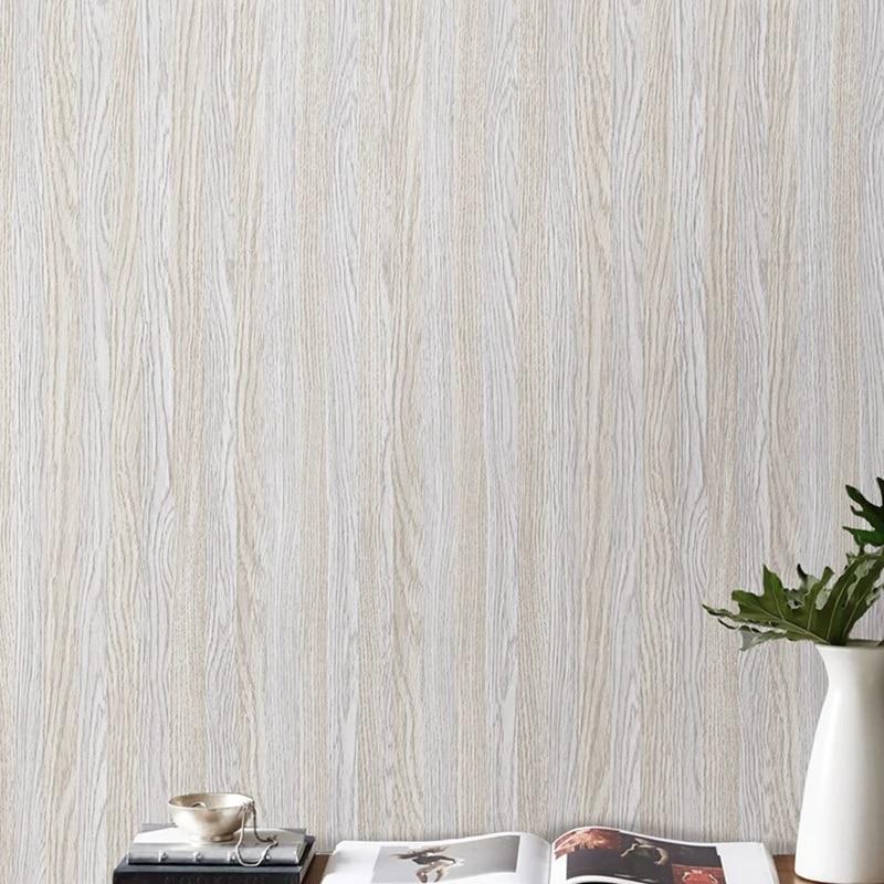Self Adhesive Wallpaper Wood Grain Effect Waterproof Thick Pvc Wallpaper Peel Stick Rolling Paper Wallpapers Aliexpress