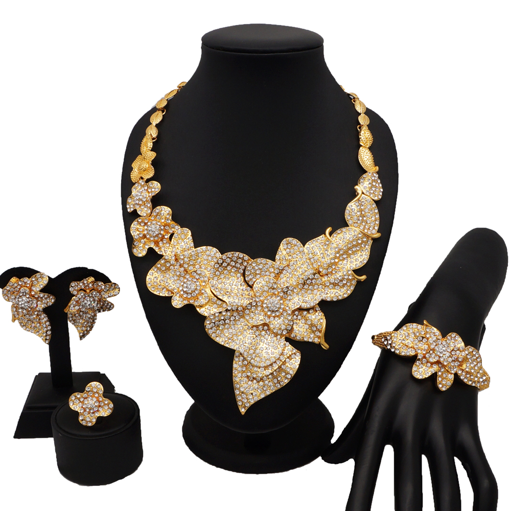 dubai jewelry sets women fashion necklace gold BRACELET  African
