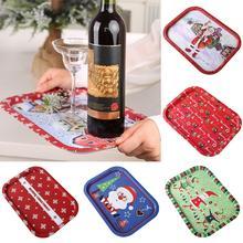 Железный Рождественский Санта Клаус Снежинка прямоугольник еда Закуски красное вино фрукты лоток для хранения тарелка кухонный гаджет