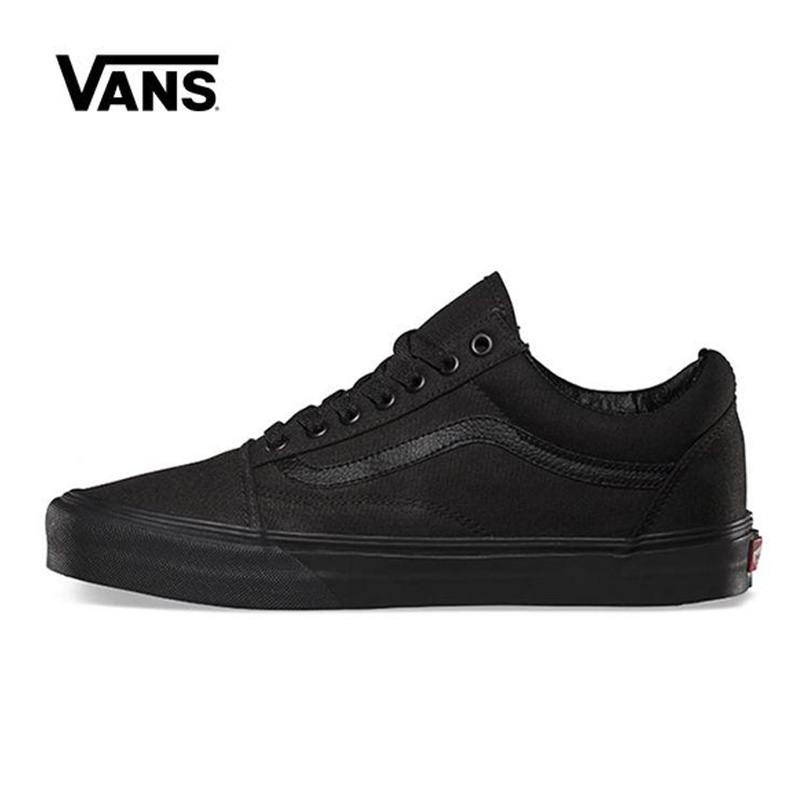 Original Vans Old Skool Black Shoes Men Women Sneakers Unisex Skateboarding Vans Shoes Black VN000D3HBKA