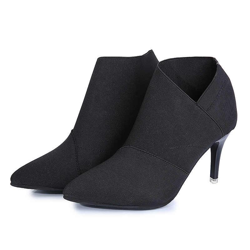 เซ็กซี่ฤดูหนาวรองเท้าผู้หญิงรองเท้า Winter Boots ข้อเท้ารองเท้าส้นสูงผู้หญิงรองเท้าผู้หญิงฤดูใบไม้ร่วงรองเท้า
