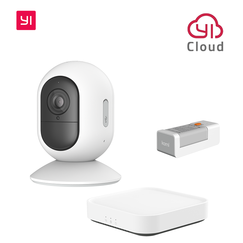 YI Kami 1080P Wire-Free Home Camera Kit Wireless Outdoor Battery Security Camera Motion Detection Night Vision Two-Way Audio