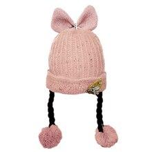 Детская зимняя шапка, вязаная шапка, шарф, комплект, детская Милая шапка с рисунком, отличный подарок для женщин/леди, обычный размер, подходит для 1-3 лет# BA