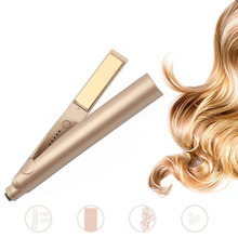 Hair modeler curling wave curler big automatic rod straight hair boardstick two in one twisted splint gold exp