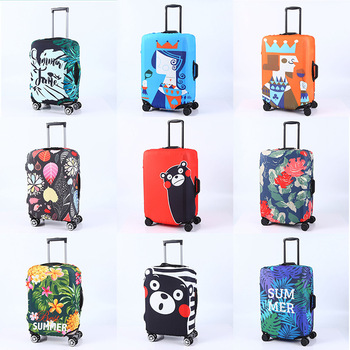 Luggage Protective Case Elastic Cover Travel Lugguge Dust Cover Trolley Case Cover Thick Wear-Resistant 20/24/28/30 Inch