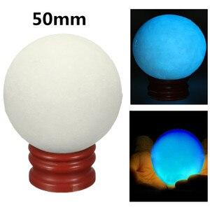 50 мм синий светящийся шар камень кварц кристалл шар светится в темноте камень с подставкой