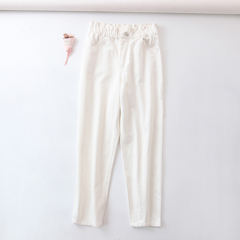 WOMEN'S Dress 2019 Summer New Style Versatile Elastic Waist Slimming Jeans Women's C9143