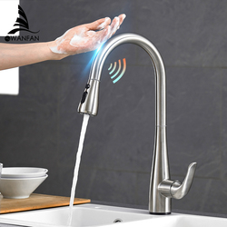 Pull Out Black Sensor Kitchen Faucets Stainless Steel Smart Induction Mixed Tap Touch Control Sink Tap Torneira De Cozinha 1003