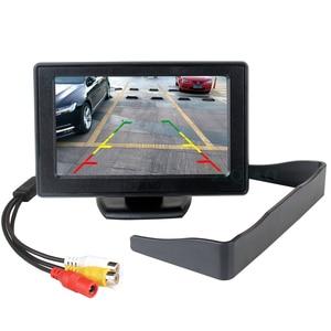 Image 4 - ZIQIAO 4.3 인치 TFT LCD 주차 모니터와 HD 반전 후면보기 카메라 옵션 P01