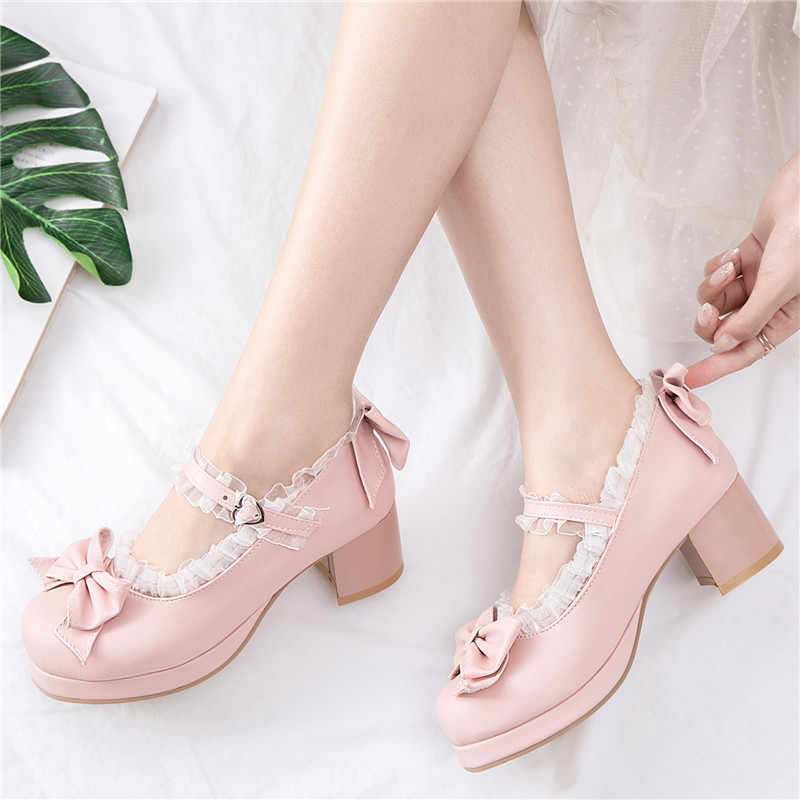 Lolita Shoes Pink Mary Jane Shoes