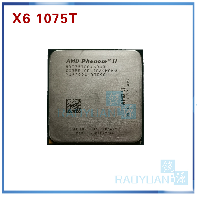 AMD Phenom X6 1075T X6-1075T 3.0GHz Six-Core CPU Processor HDT75TFBK6DGR 125W Socket AM3 938pin