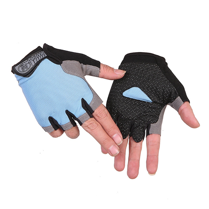 Bicycle Riding <font><b>Gloves</b></font> Anti Slip For MTB Road <font><b>Mountain</b></font> <font><b>Bike</b></font> <font><b>Glove</b></font> Anti Shock 1Pair Half Finger Cycling <font><b>Gloves</b></font> Anti-Slip <font><b>Gel</b></font> image