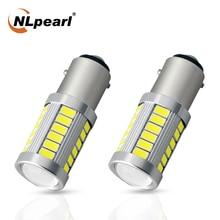NLpearl 2x Signal Lamp 1156 P21w Led Ba15s Py21w Bau15s 5630SMD 1157 Bay15d Led P21/5W Car Turn Signal Light Brake Reverse Lamp