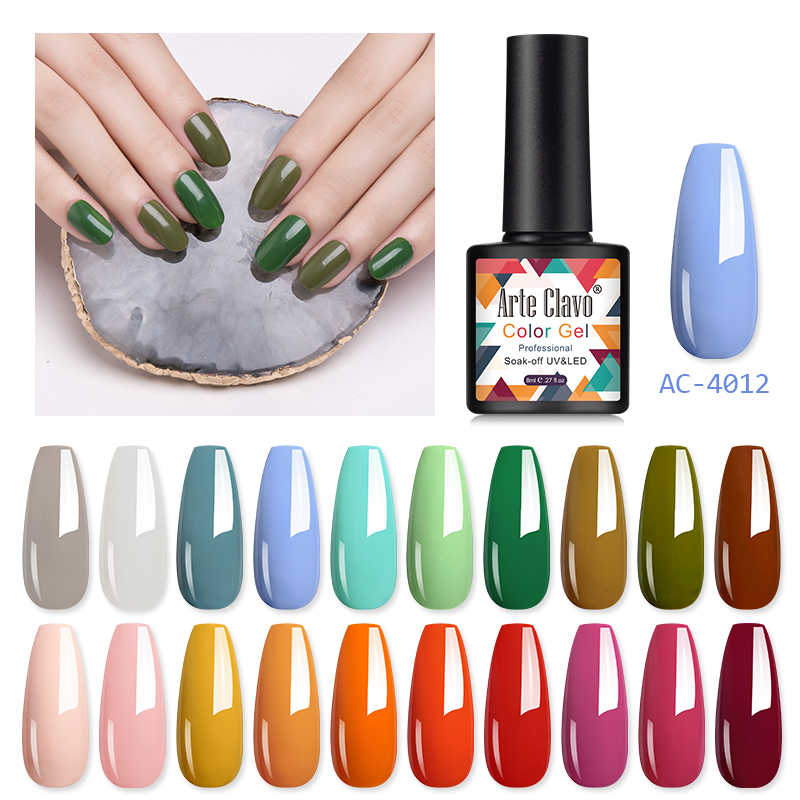 Arte Clavo Gel Vernis À Ongles UV LED Poly Peinture D'art D'ongle de Gel de Conception De Couche De Finition Brillant Paillettes Ongles Gel Vernis 8ml