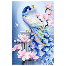 5D DIY Diamond Painting Animal Peacock Flower Diamond Embroidery Cross Stitch Kit Wall Sticker Home Decoration цена 2017
