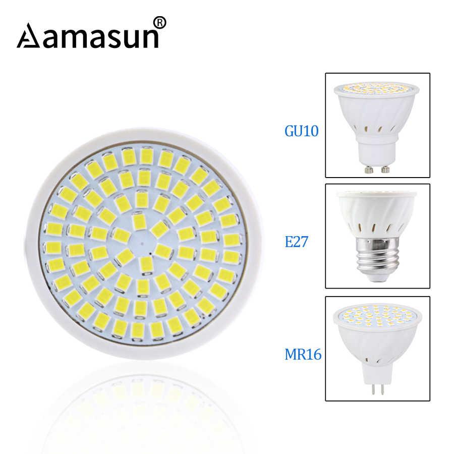4W 6W 8W E27 GU10 MR16 AC 220V lampe à LED Projecteur 48LED 60LED 80LED 2835 SMD ampoule Lustre Remplacer Halogène Éclairage
