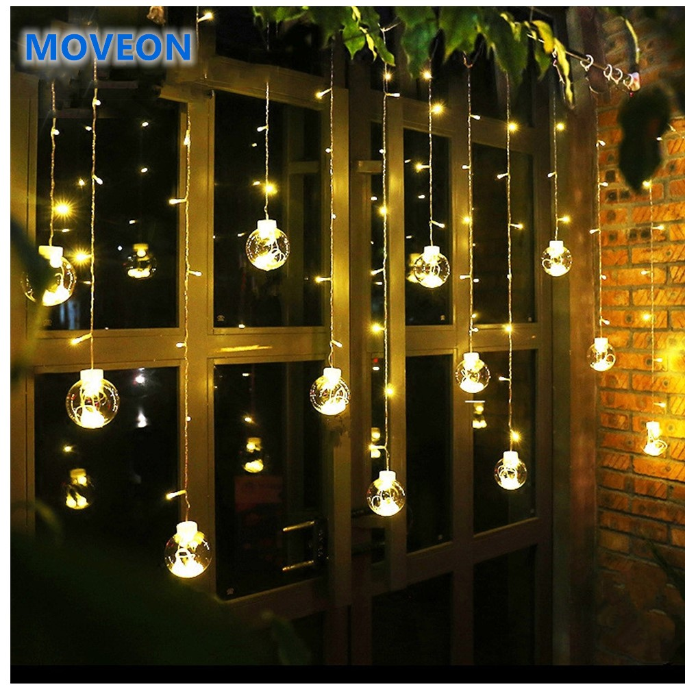 Zpaa 3m 138led Ball Globe String Lights