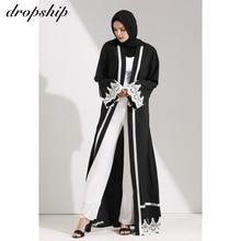 Dropship 2019 elbise kadın elbiseler ucuz satış Maxi uzun Vintage Vestidos Verano Robe Femme müslüman Boho nakış gevşek o boyun