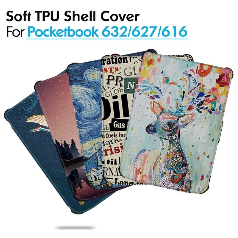 Смарт чехол AROITA для Pocketbook 616 627 632   Touch Lux 4/Basic Lux 2/Touch HD 3   Drop Resistance TPU Мягкий защитный чехол|Чехлы для планшетов и электронных книг|   | АлиЭкспресс