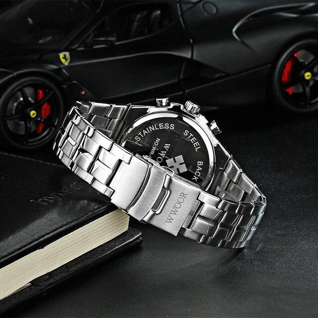 Купить wwoor повседневные спортивные мужские светящиеся часы с хронографом картинки
