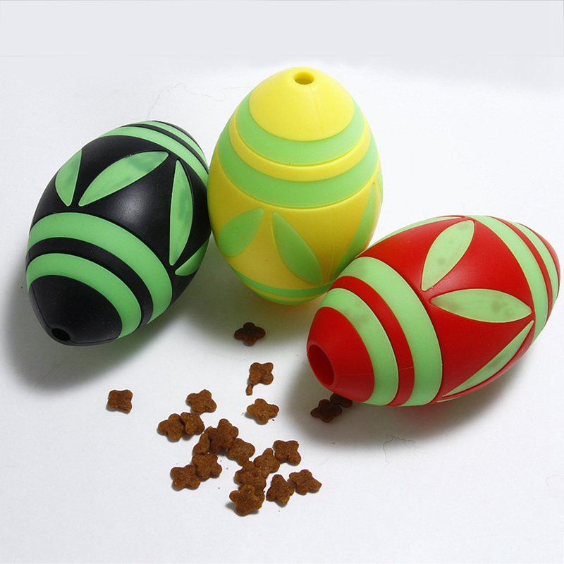 Pet Toy Luminous Silicone Food Leak Ball Interactive Dog Puzzle Toy For Pressure Relieve Boredom Release ExerciseCC