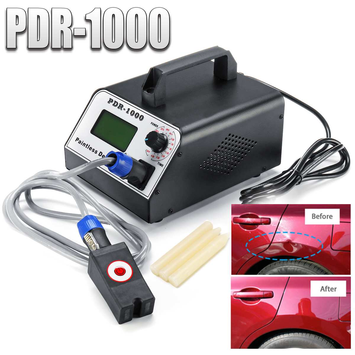 Induction Heater Car Dent Repair Paintless Remover For Removing Dents 1000W Hot Box Tool Set For Car Body Repair 220V/110V