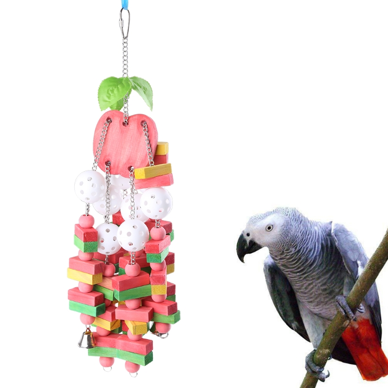 Bird Parrot Chewing Toy Large Medium Parrots Birds Cage Bite Chew Toys for African Grey Macaws Pet Bird Supplies C42
