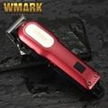 WMARK LCD Professional Hair cutter Haar Trimmer wiederaufladbare 2000mAh Lithium batterie 6500rm Coldless haar clipper kostenloser viele geschenk-in Haar-Trimmer aus Haushaltsgeräte bei