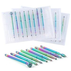 Хамелеон набор сверл для ногтей Алмазная фреза роторные заусенцы электрические инструменты для кончиков маникюра педикюрные пилки TRCDT