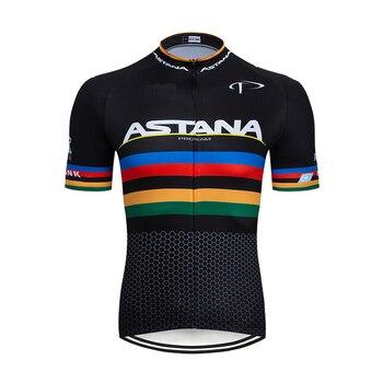 ¡Novedad de 2020! Camiseta de Ciclismo profesional ASTANA para hombre y mujer