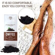 Body Scrub Crème Aliver Colombiaanse Koffie Scrub Poeder Lichaam & Gezicht Exfoliërende Verwijderen Dode Huid Vervagen Striae Acne Behandeling